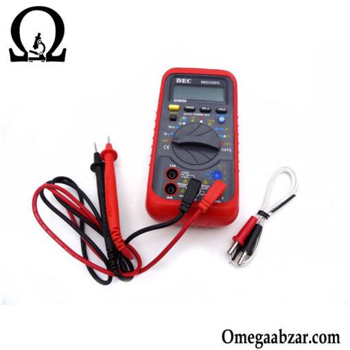 قیمت خرید مولتی متر دیجیتال DEC مدل DEC330FC 5